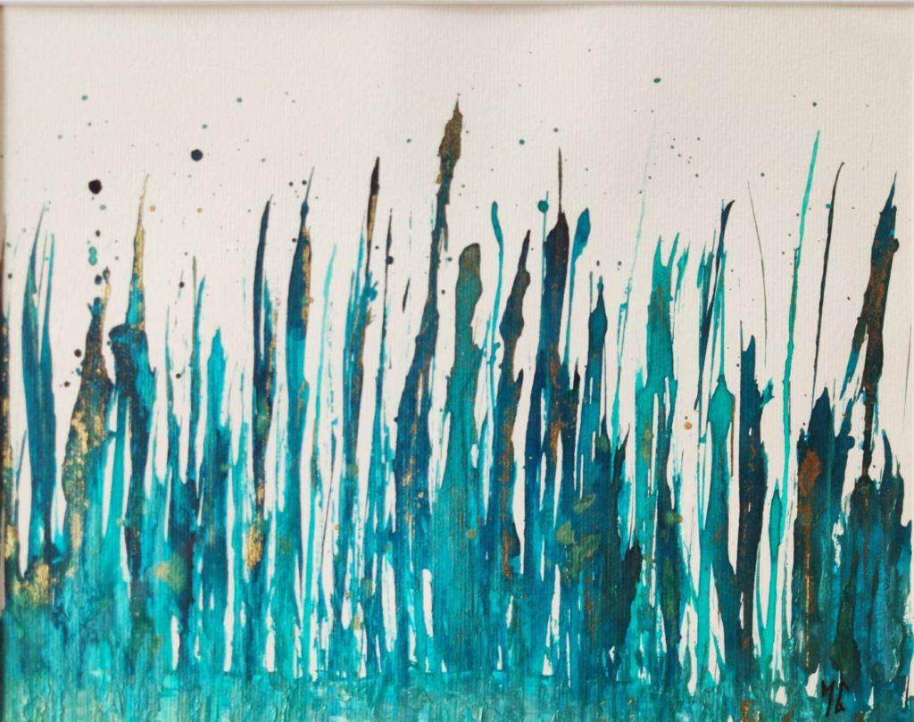 Encre sur papier #3 Dimension encadrée 42 x 52 cm 250€